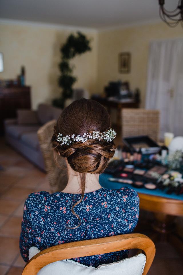 Mariée portant un chignon
